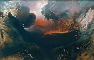 John Martin, The Great Day of His Wrath, vers 1851-1853, huile sur toile, 196x303cm, Londres, Tate.