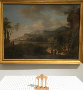 vue de l'exposition avec Pierre-Henri de Valenciennes, Cicéron découvrant le tombeau d'Archimède,
