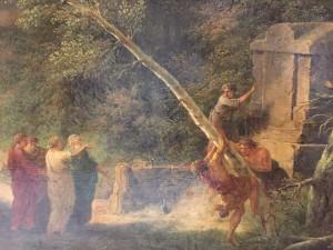 Cicéron découvrant le tmpbeau d'Archimède, détail.