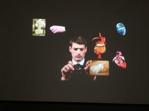 Aurélien Froment, Théâtre de poche, projection vidéo H.D., 2007, avec Stéphane Corréas, 12'27''