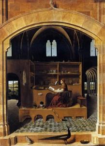 Antonello de Messine, saint Jérôme dans son cabinet, 1475