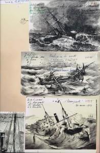 Naufrages, dossier iconographiques du nausée national de la marine ,Paris