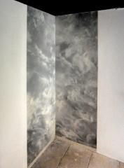 jacqueline Salmon,2 épreuves pigmentaires sur bâche Japon, dessin à l'encre de chine, 95,5 x230 cm, Musée Réattu, 2013
