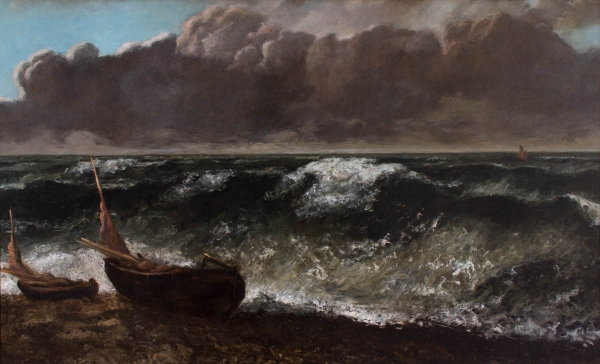 Gustave Courbet, La Vague, huile/toile, 71,5 x11§,8 cm1869 , MuMa, le Havre