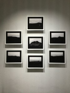 Les crêts vus d'ici, sept tirage pigment sur papier sous verre, 45,6 x37,6 chacun, 2017