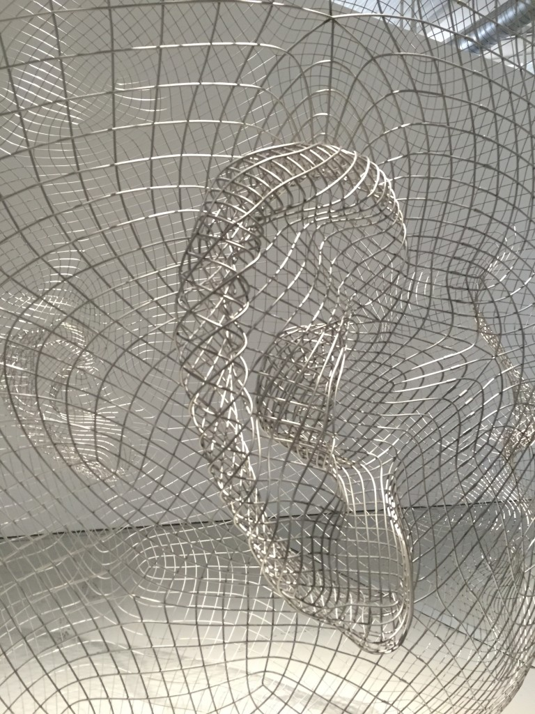 Lou &Laura, détail. Exposition james Plensa au musée de Saint-Etienne.