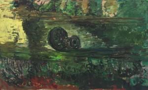 Untitled, 2012, h/t, 180 x 295 cm.