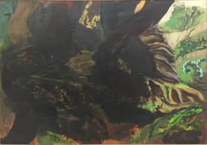 Per Kirkeby Urwald, 1988, h/t, 250x365
